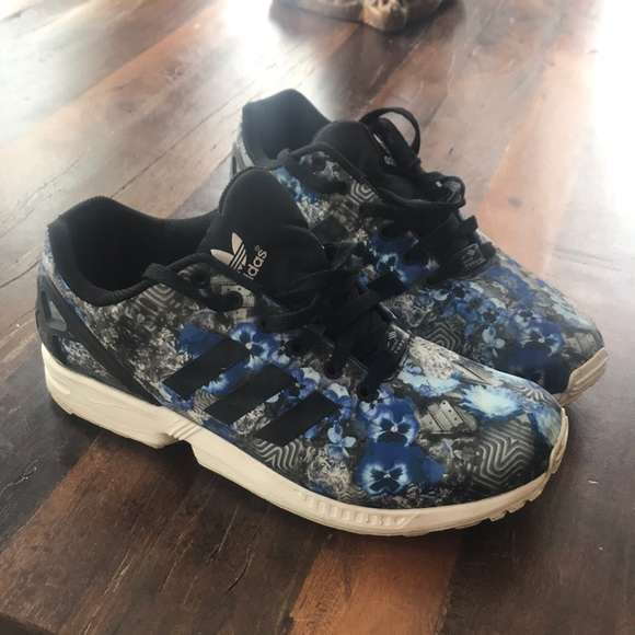 size 40 13dd8 b4c37 adidas Other - Adidas Men s ZX Flux Floral Print Running Sneakers